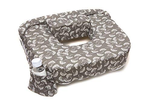 My Best Friend Twin Nursing Pillow Slipcover Flowing Fans, Grey, White