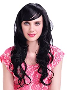 Taobaopit High Quality Long Curly Black Color Classy Soft Hair Full Wig