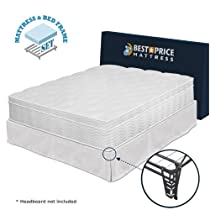 "Hot Sale 13"" Euro Top Spring Mattress & Bed Frame Set-King"