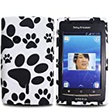 Paws Footprint - Silicone Gel TPU Mobile Phone Case Cover For Sony Ericsson Xperia X8 / White