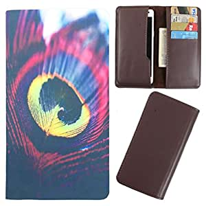 DooDa - For Videocon Infinium Z40 Pro PU Leather Designer Fashionable Fancy Case Cover Pouch With Card & Cash Slots & Smooth Inner Velvet
