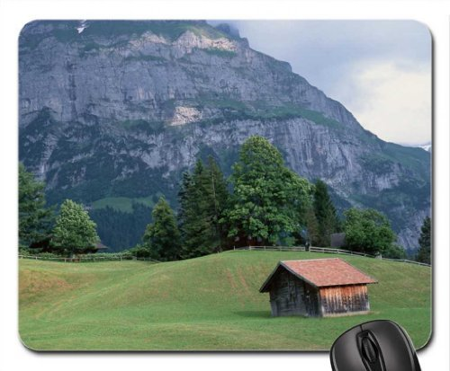 hut-in-a-high-valley-mouse-pad-mousepad-mountains-mouse-pad