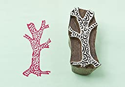 Blockwallah Tree Trunk Wooden Block Stamp