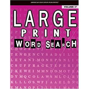 Printable word searches for adults large print