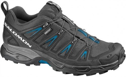 SALOMON X Ultra GTX Men's Hiking Shoes, Black/Blue, UK11.5