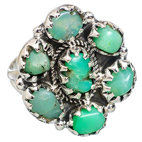Ana Silver Co Large Chrysoprase 925 Sterling Silver Ring Size 8.5