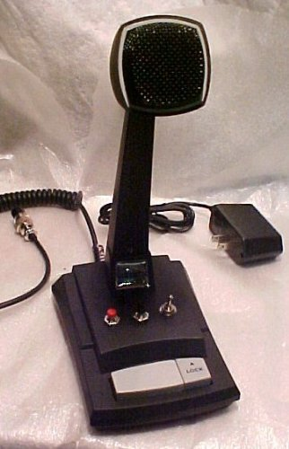 Custom Astatic Ast-878Dm Amplified Cb Ham Radio 6 Pin Rci Base Station Desk Microphone Blue !!