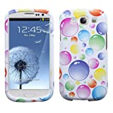 MYBAT SAMSIIIHPCIM953NP Compact and Durable Protective Cover for Samsung Galaxy S3 - 1 Pack - Retail Packaging - Rainbow Bigger Bubbles