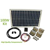 Newpowa 100w Watt Panel 12v Solar Battery Charging System Kit Marine Rv Diy(phocos Controler + Mounting Hardware + Cable w/ Fuse)