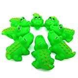 HelloPretty Squeezing Rubben Toys Baby Bath Play Animal Buddies Pack of 10 crocotile