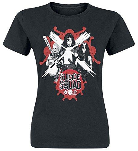 Suicide Squad Harley Quinn, Katana & Enchantress Maglia donna nero L