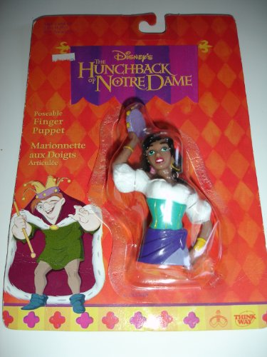 "Esmeralda Finger Puppet Posable from The Hunchback of Notre Dame 3"" tall - 1"