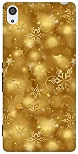 The Racoon Grip printed designer hard back mobile phone case cover for Sony Xperia Z3. (golden sno)