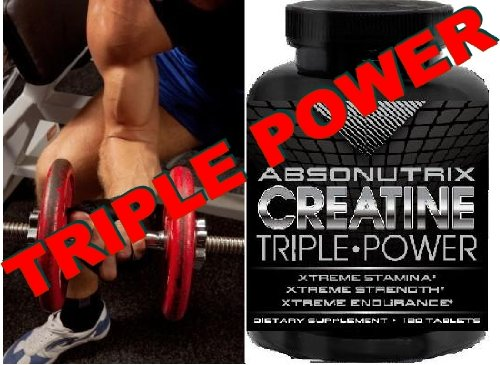 2 Bottles Absonutrix Creatine Triple Power 5000Mg - 240 Tablets Xtreme Stamina - Xtreme Strength - Xtreme Endurance