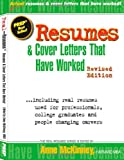 img - for Resumes & Cover Letters That Have Worked [Paperback] [2012] (Author) Anne McKinney book / textbook / text book