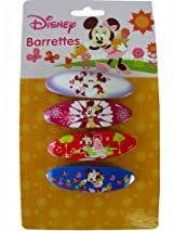 Disney Minnie Mouse Barrettes - 4pcs Set