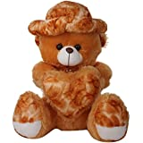 Funny Teddy Valentine Gift Big Teddy Bear Holding Heart Extremely Soft Giant Big Stuffed Plush Toy High Quality Fur - 2 Feet (Brown)