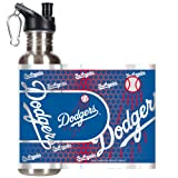 MLB Los Angeles Dodgers Water Bottle with Metallic Wrap and Pop-Up Spout, Stainless Steel, 26-Ounce at Amazon.com