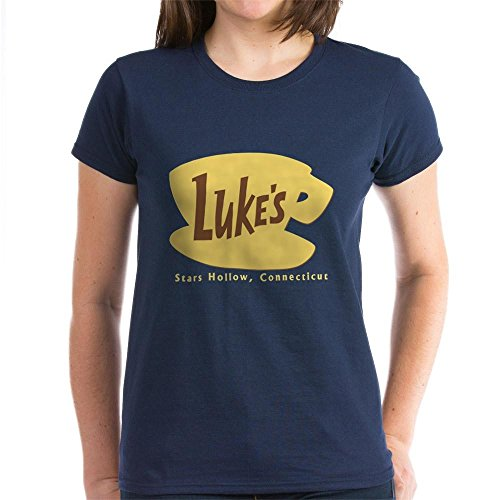 CafePress - Luke's Diner Women's Dark T-Shirt - Womens Cotton T-Shirt, Crew Neck, Comfortable & Soft Classic Tee (Luke Personalized compare prices)