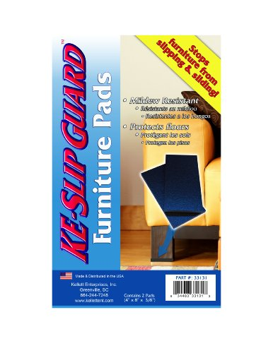 KE 4-Inch by 8-Inch by 3/8-Inch Slip Guard Furniture Pads, Set of 2 - 1