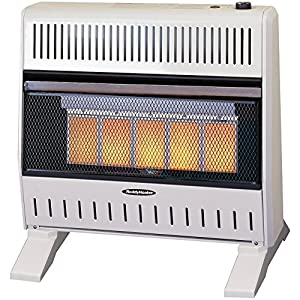 Gas Space Heater with Thermostat and Blower - Portable Space Heaters