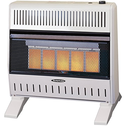 Sure Heat IWH26IRNG 5 Ceramic Plaque IR Wall or Floor Heater with Thermostat Blower Natural Gas, 26K BTU, Beige/Tan (Infrared Ceramic Heater Gas compare prices)