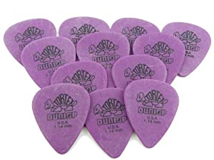 Dunlop Standard Tortex Picks, 12 Pack, Purple, 1.14mm