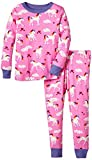 Hatley Little Girls' Pajama Set Overall Unicorns