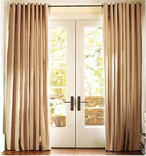 1kidandaheadache s faux silk panel drape curtain window treatmeant 8 grommets 55 quot x95 quot in beige