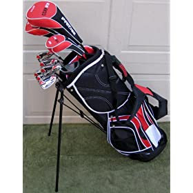 Men's Complete Golf Set Newest Technology Forged Titanium Driver, Wood, Hybrid, Irons Putter Bag Latest 2010 Model...$799 Retail
