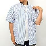(ジーンズショップ マルカワ) Jeans shop MARUKAWA大きいサイズ ボタンダウン ストライプ 半袖 シャツ