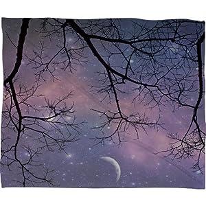DENY Designs Shannon Clark Twinkle Twinkle Fleece Throw Blanket, 80-Inch by 60-Inch