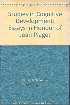 Essay on cognitive development in children