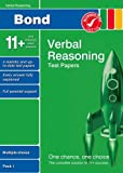 Bond 11+ Test Papers Verbal Reasoning Multiple Choice Pack 1