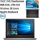 """Newest Dell Inspiron Flagship High Performance 15.6"""" FHD Touchscreen Backlit Keyboard Laptop PC