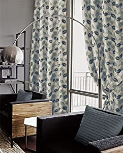 Genesis Teal Chenille Jacquard 90x72 Ring Top Eyelet Lined Curtains #nede *as* from Curtains