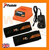 2x Replacement Battery 6V 1.5ah (Pro Series) For Paslode Nailers + Paslode Charger Base + Wall Charger
