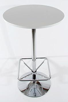 2x bistro tisch wei holzplatte rund fu st tze quadratisch m nchen dc222. Black Bedroom Furniture Sets. Home Design Ideas