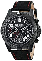 SO&CO York Men's 5016.2 Yacht Club Analog Display Japanese Quartz Black Watch from SO&CO New York