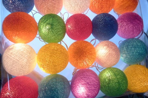 Strings Lights 20,Cotton Balls Fairy Party,Decor,Christmas,Bedroom,Wedding front-482276