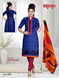 Anand Prints Women's Cotton Unstitched Dress Material (Dno109_MultiColored)
