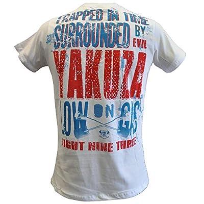 Yakuza Herren T-Shirt TSB 515 Low on Gas weiss