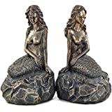 Bookends - Mythical Mermaid Bookends - Nautical Bookends - Book Ends - Coastal Home Decor