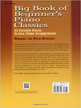 Big Book of Beginner's Piano Classics (Dover Music