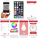 1byone-Bluetooth-40-Lautsprecher-und-LED-Glhbirne-mit-App-fr-Smartphones-dimmbare-RGB-LED-fr-entspannten-Musikgenu-E27-Fassung