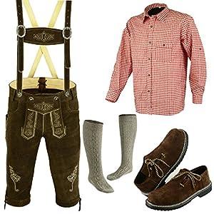 German Bavarian Oktoberfest Trachten Lederhosen Complete Outfit (36)
