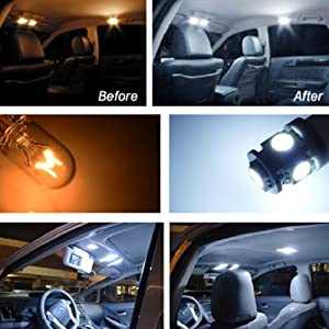 iJDMTOY Premium SMD LED Lights Interior Package Combo for 2006-2011 BMW E90 325i 328i 330i 335i 3 Series Sedan, Xenon White