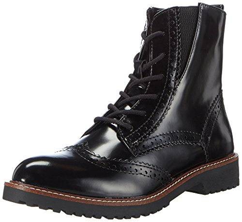 Marco Tozzi 25252, Damen Combat Boots, Schwarz (Black Brush 050), 39 EU (6 Damen UK)