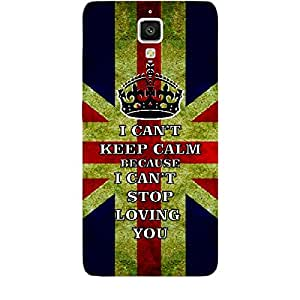 Skin4gadgets I CAN'T KEEP CALM BECAUSE I Cant Stop Lovin You - Colour - UK Flag Phone Skin for XIAOMI REDMI 1