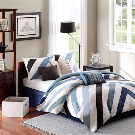Madison Park Mercer 7 Piece Comforter Set - Multi - King front-848970